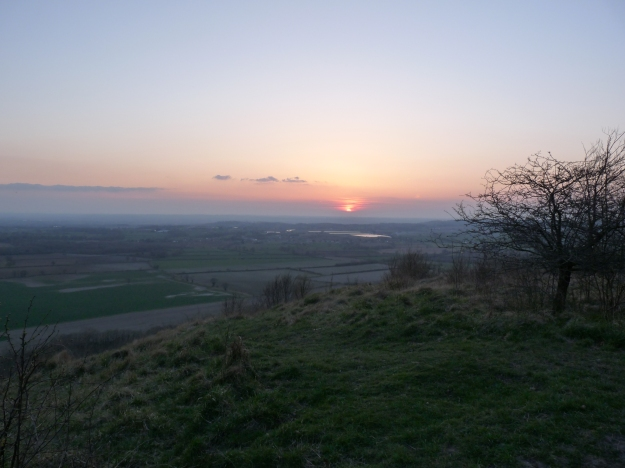 Sunset off roundway hill